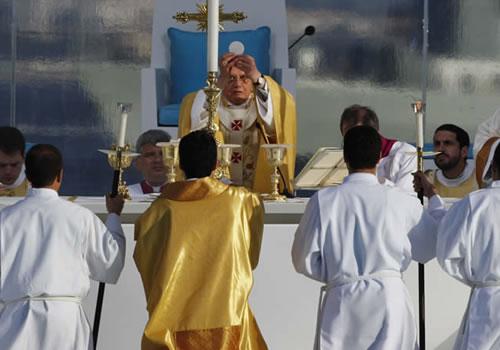 Missa no Terreiro do Paço em Lisboa